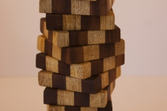 Orion - ash and iroko Height 31cm Width approx. 9cm x 9cm at widest part