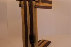 Draco - iroko, oak Height 39cm 14cm wide across eyes, Base 9 x 25cm