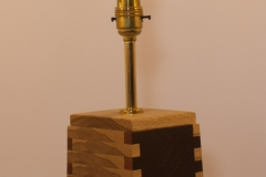 Crux - oak, iroko Height 33cm Base 11.5 x 11.5cm