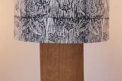 Lampshade Starfish Design - Denim