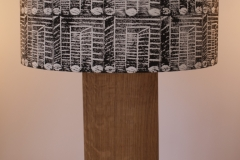 Lampshade Cricket Stumps Design - Black