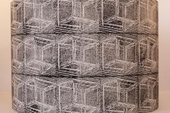 Lampshade Crazy Crate Design - Black