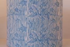 Lampshade Starfish Design - Bright Blue