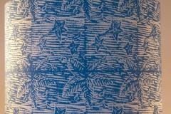 Lampshade Starfish Design - Peacock Blue
