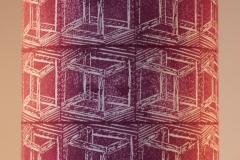 Lampshade Crazy Crate Design - Burgundy