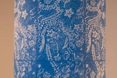 Lampshade Seashore Design - Peacock Blue