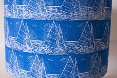 Lampshade Sailing Design - Blue