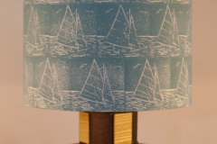 Lampshade Sailing Design - Duck Egg Blue