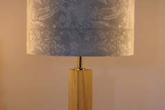 Lampshade Seashore Design - Silver Grey