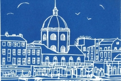 "The Dome, Worthing: limited edition linocut. Edition of 30, image measures 8 x 6"" SOLD OUT"